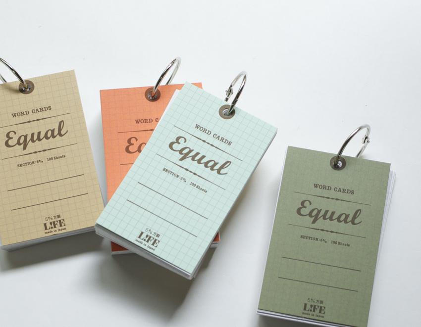 単語カード 5×3 イコール 方眼単語帳 WORD CARDS equal