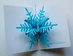 POP-UP SHIMMERING SNOWFLAKE