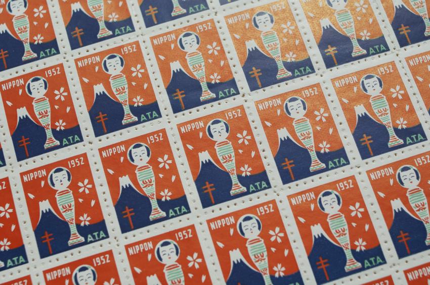 取扱終了】クリスマスシール JAPAN 1952/スタンプ 切手 複十字シール ...