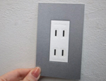 wall outlet card